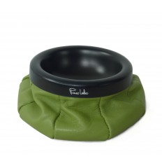 Leather ashtray - APPLE GREEN