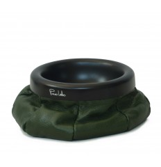 Leather ashtray - DARK GREEN