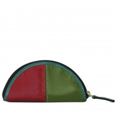 Purse Troika semicircle - RED - APPLE GREEN - TURQUOISE