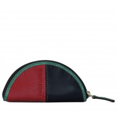 Purse Troika semicircle - RED - BLACK - TURQUOISE