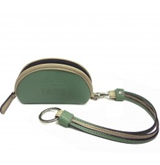 Purse with straps keyring - GREEN WATER - SAND