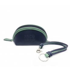 Purse with straps keyring - DARK BLUE - GREEN WATER
