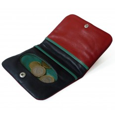 Purse Troika big - RED - BLACK - TURQUOISE
