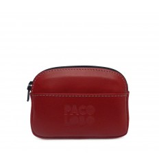 Purse with zipper - RED
