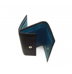 Wallet/cardholder Troika - BROWN - LIGHT BLUE