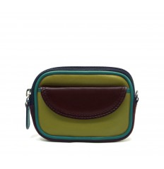 Purse tricolour zipped
