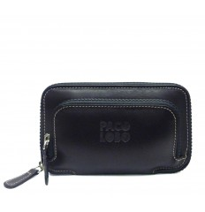 Medium wallet with double zipper Mak - MOKA