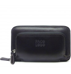 Big wallet with double zipper Mak - MOKA