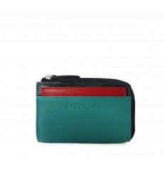 Cardholder Troika - TURQUOISE - BLACK - RED