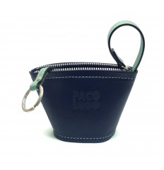 Keyring cube - DARK BLUE - GREEN WATER