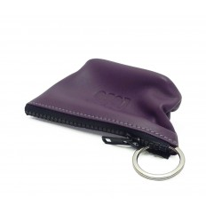 Keyring with ring inside - PURPLE