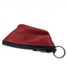 Keyring with ring inside - RED