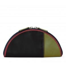 Case-Pouche Troika semicircle - BLACK - DIJON - RED