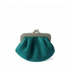 Purse retro look with kiss-clasp - TURQUOISE-STONE