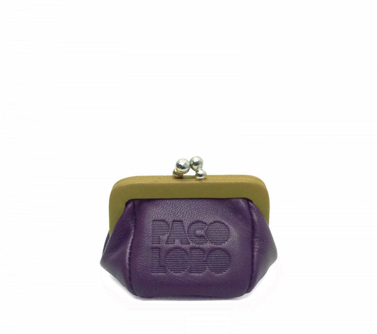 Mini-purse bicolor with kiss-clasp