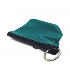 Keyring with ring inside - TURQUOISE
