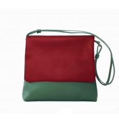 Shoulder bag Troika - RED - GREEN WATER - MUSTARD