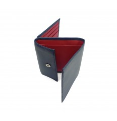 Wallet/cardholder Troika - DARK BLUE - RED