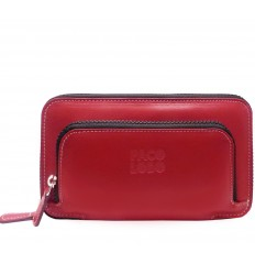 Big wallet with double zipper Mak