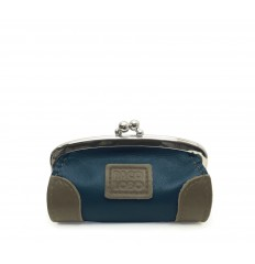 Purse with kiss-clasp and corners - NAVY - MOLE