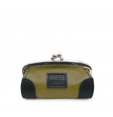Purse with kiss-clasp and corners - DIJON - BLACK