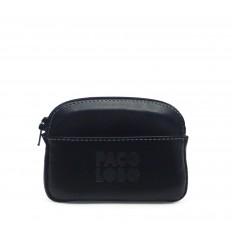 Purse with zipper - BLACK