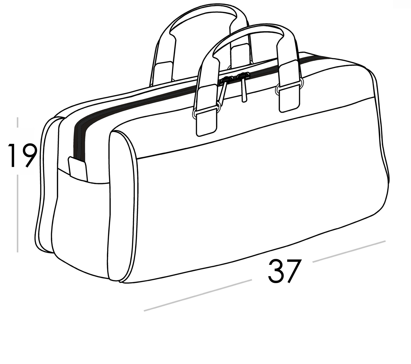 SIZE CHART URBAN BAG WITH DOUBLE HANDLE PACO LOBO
